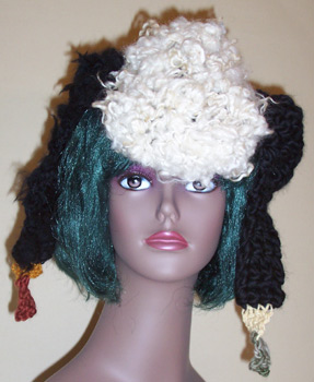 linda scharf crocheted hat/stoneleafmoon.com