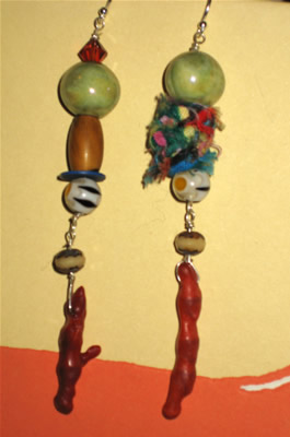 eclectic relics...earrings by stoneleafmoon.com